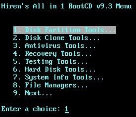 Cách chia lại phân vùng ổ cứng chuẩn xác với Hiren Boot