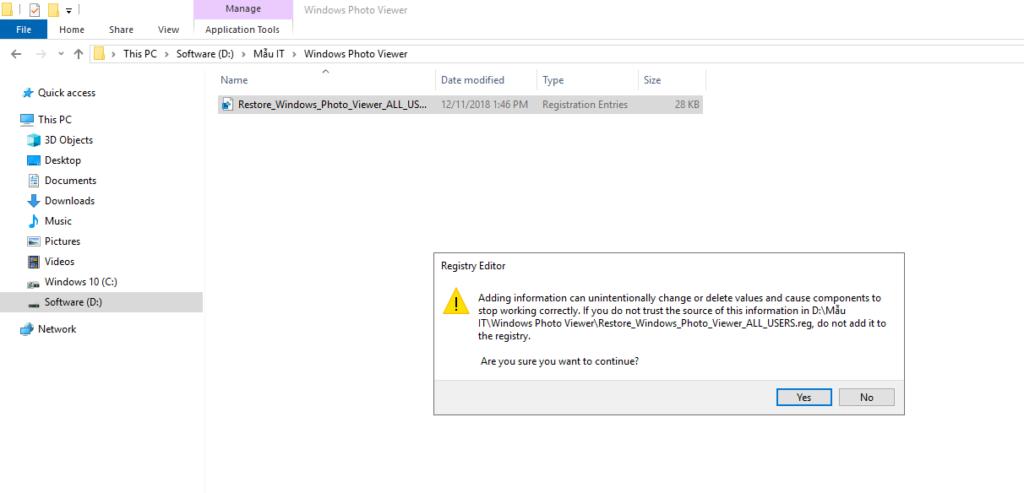 [Bí kíp] Kích hoạt Windows Photo Viewer trong Windows 10