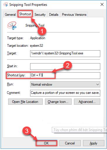 [Hướng dẫn] Tạo Phím Tắt Cho Công Cụ Snipping Tool Trong Windows 10