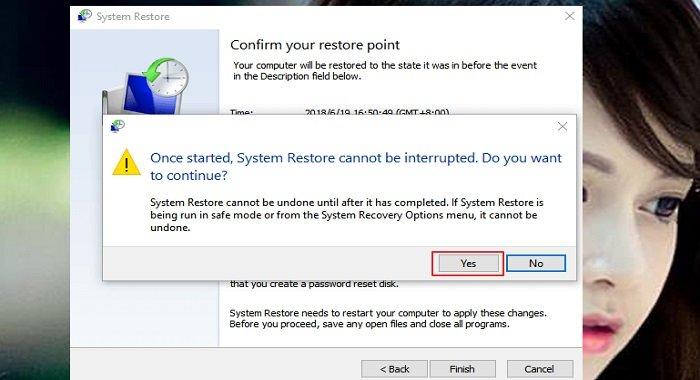 Cách phục hồi hệ thống system restore trên windows 10