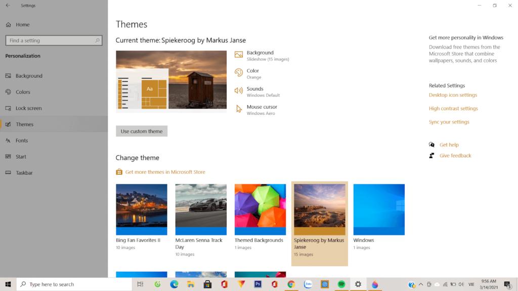 Hướng dẫn thay đổi chủ đề trên Windows 10 với 4 bước