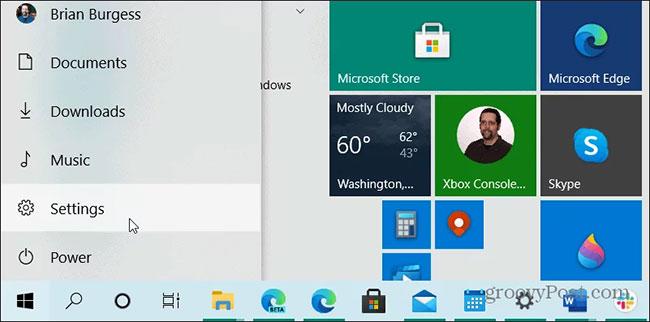 Tắt chương trình tự khởi động trong Windows 10