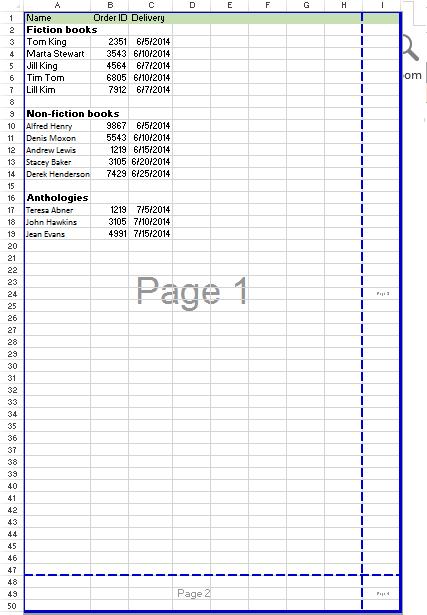 Hướng dẫn cách bỏ Page Break trong Excel 2007