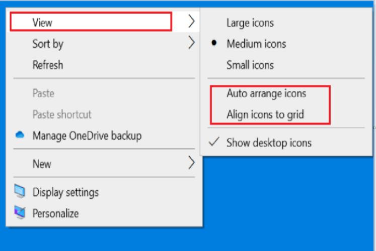 Hướng dẫn Cách chỉnh các biểu tượng trên màn hình Desktop