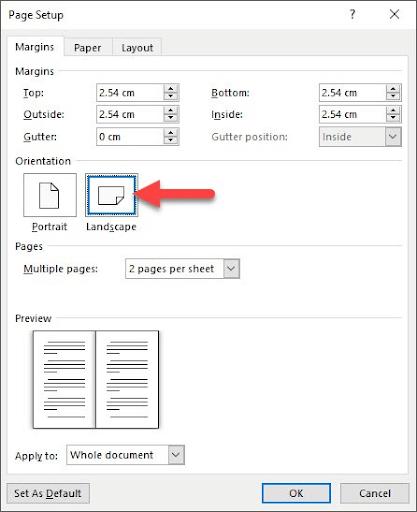 Hướng dẫn cách chuyển 2 trang thành 1 trang trong Word