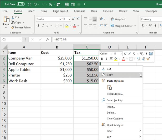Hướng dẫn cách Copy và Dán trong Excel Đơn giản