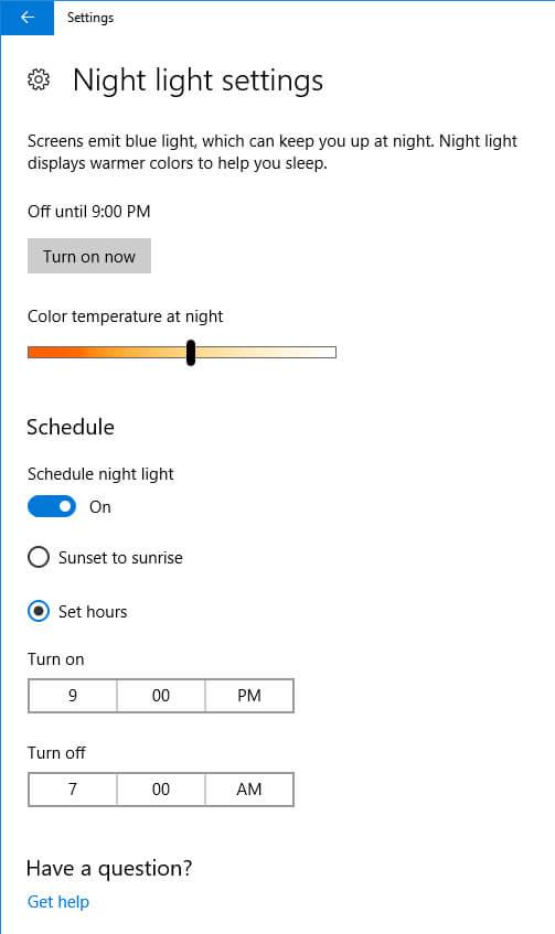 Cách bật Chế độ Ban đêm cho laptop   Windows 10, MacOS