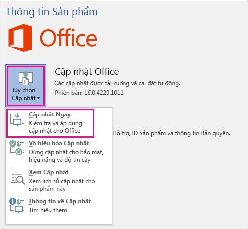 Hướng dẫn Nâng cấp Microsoft Office 2016 lên 2019